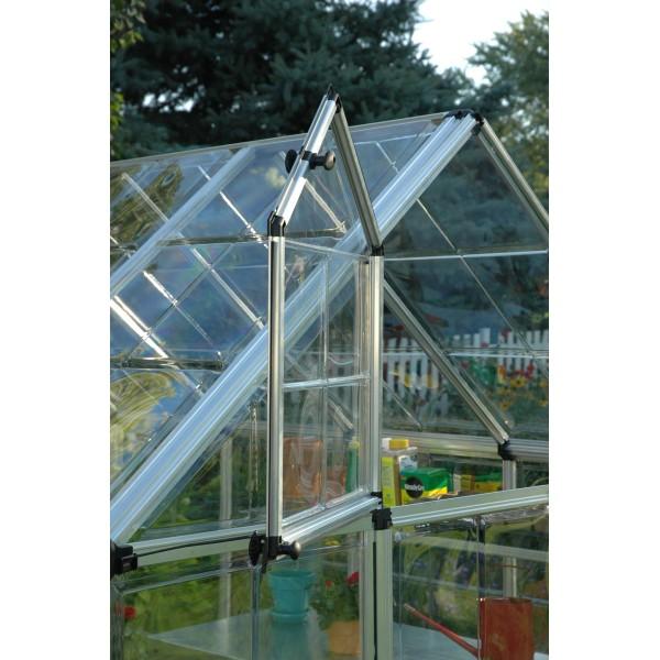 Palram 6x12 Snap Amp Grow Hobby Greenhouse Kit Silver Hg6012