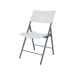 Lifetime Light Commercial Contemporary Folding Chair 4 Pack (White) 80191