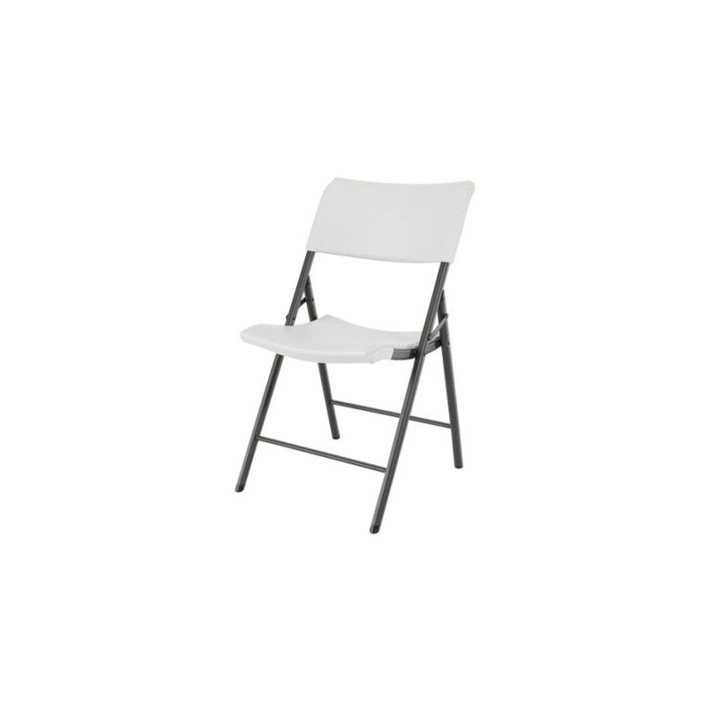 Lifetime Light Commercial Contemporary Folding Chair 4 Pack (Almond) 80190