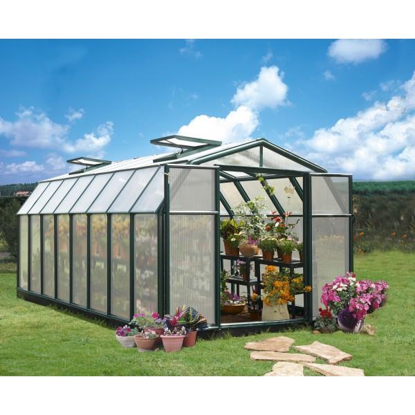 Rion 8x16 Hobby Gardener 2 Twin Wall Greenhouse Kit Hg7116