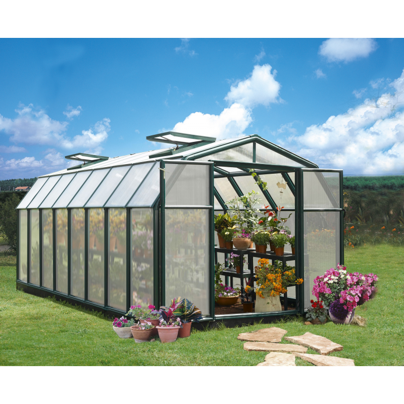 Rion 8x20 Hobby Gardener 2 Twin Wall Greenhouse Kit (HG7120)