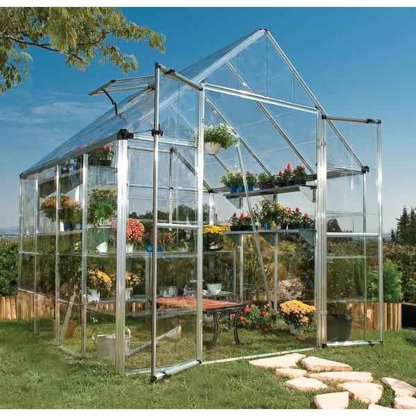 Palram 8x8 Snap & Grow Hobby Greenhouse Kit - Silver (HG8008)