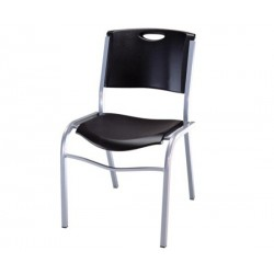 Lifetime Commercial Contoured Stacking Chair 4 pack (Black) 42830