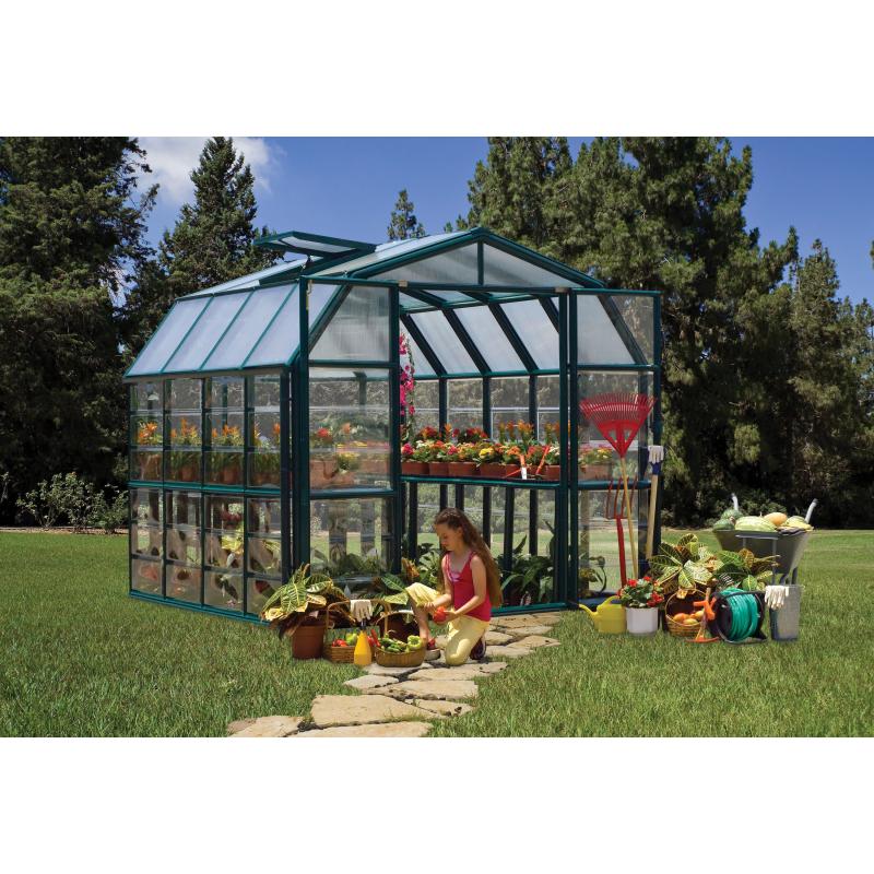 Rion 8x8 Grand Gardener 2 Clear Greenhouse Kit (HG7208C)