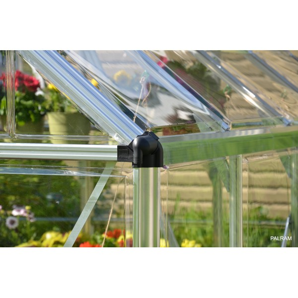 Palram 8x12 Snap Amp Grow Hobby Greenhouse Kit Silver Hg8012