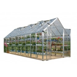 Palram 8x20 Snap & Grow Hobby Greenhouse Kit - Silver (HG8020)