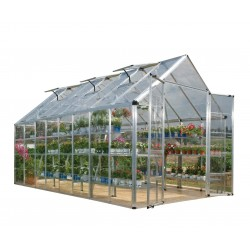 Palram 8x16 Snap & Grow Hobby Greenhouse Kit - Silver (HG8016)