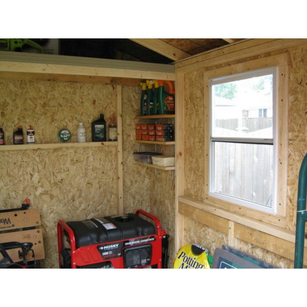 Handy home cumberland 10x8 wood storage shed w floor for 10 x 8 metal shed with floor