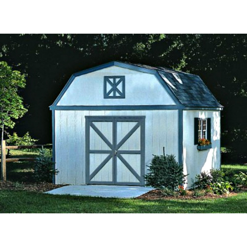 Handy Home Sequoia 12x16 Wood Storage Shed Kit (18204-4)