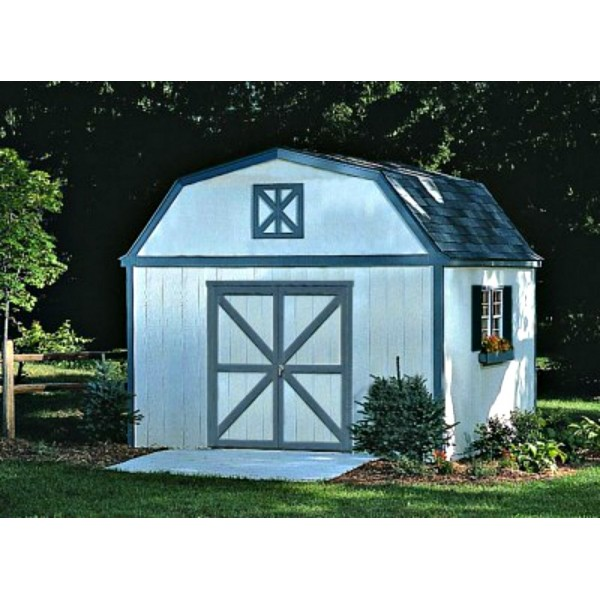 Storage Shed Ramps >> Handy Home Sequoia 12x16 Wood Storage Shed w/ Floor (18205-1)