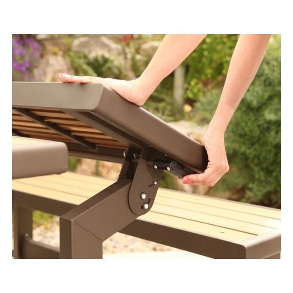 ... Lifetime Faux Wood Convertible Bench 60054 ...