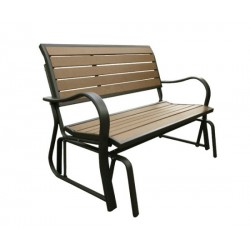 Lifetime Faux Wood Glider Bench 60055