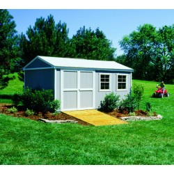 Handy Home Somerset 10x16 Wood Storage Shed w/ Floor (18506-9)