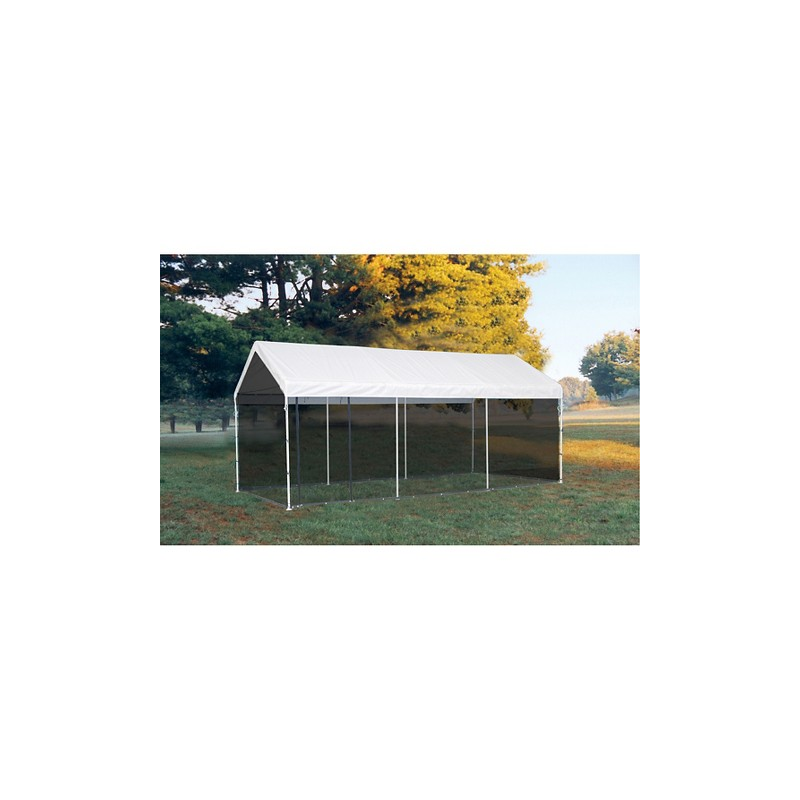 Shelter Logic 10'×20' Canopy w/ Screen Kit - White (23531)