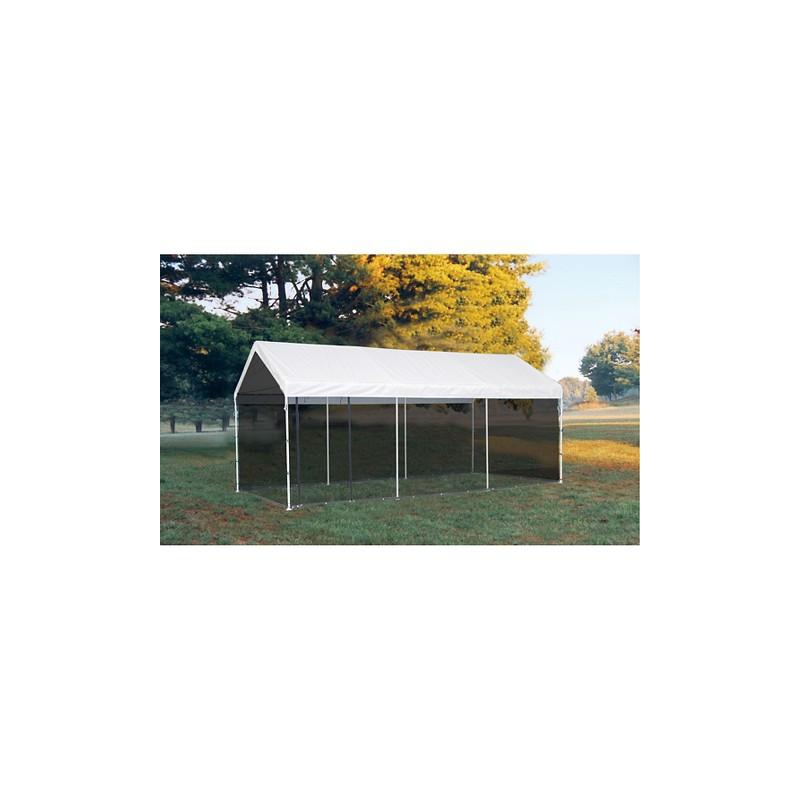 ShelterLogic 10'×20' Canopy w/ Screen Kit - White (23531)
