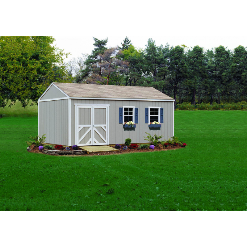 Handy Home Columbia 12x12 Wood Storage Shed Kit (18215-0)