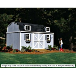 Handy Home Berkley 10x16 Wood Storage Shed Kit (18514-4)