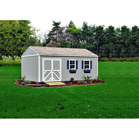 Handy Home Columbia 12x16 Wood Storage Shed Kit (18218-1)