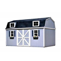 Handy Home Berkley 10x18 Wood Storage Shed Kit (18423-9)