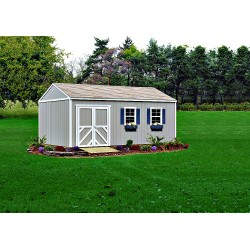 Handy Home Columbia 12x20 Wood Storage Shed w/ Floor (18221-1)