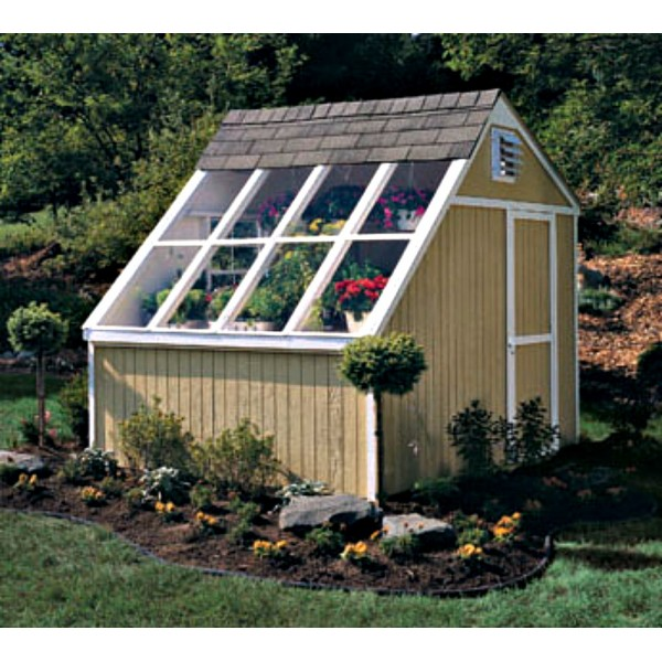 Handy home phoenix 8x10 solar shed greenhouse kit 18147 4 for Greenhouse house plans