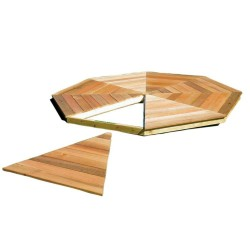 Handy Home 12' San Marino Gazebo Wood Floor Kit (19952-3)