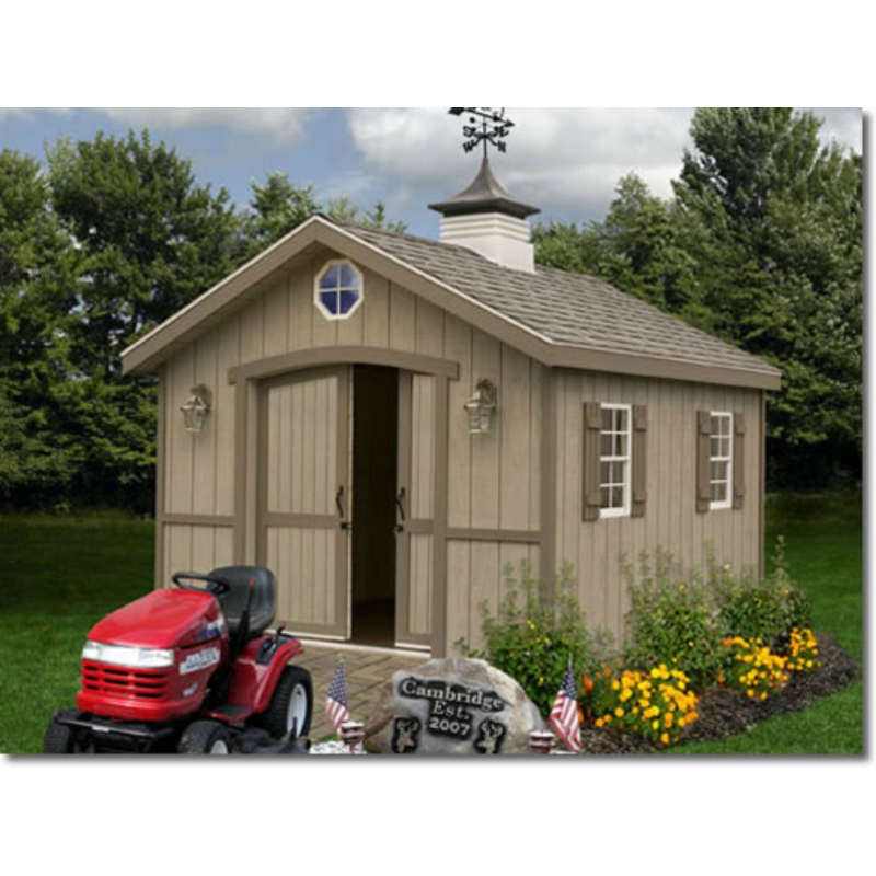 Best Barns Cambridge 10x12 Wood Storage Shed Kit (CA1012)