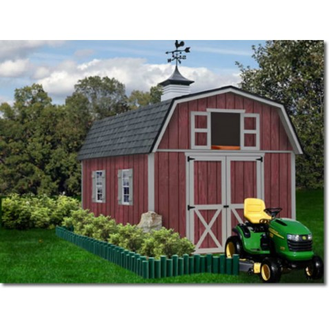 Best Barns Woodville 10x12 Wood Storage Shed Kit - ALL Pre-Cut (woodville_1012)