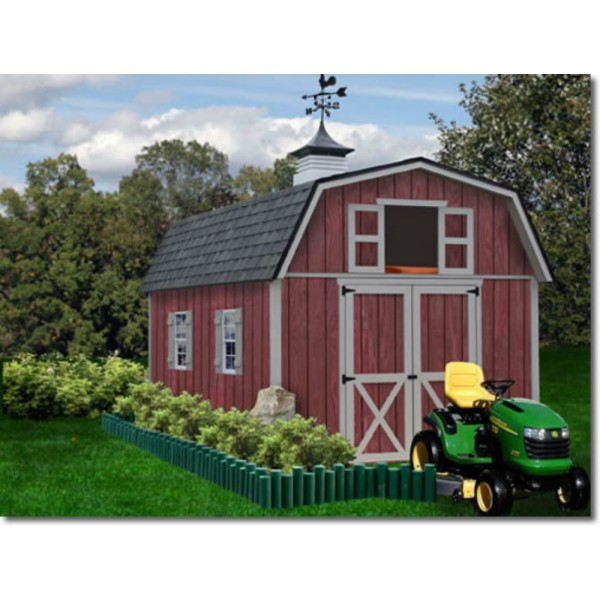 Storage Shed Ramps >> Best Barns Woodville 10x12 Wood Storage Shed Kit - ALL Pre-Cut (woodville_1012)