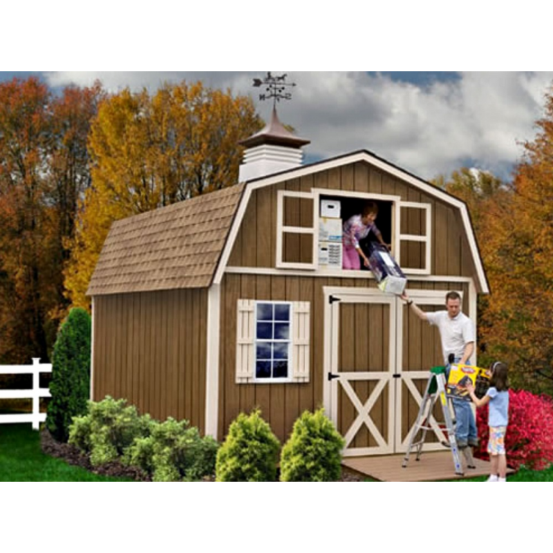 Millcreek 12x16 Wood Storage Shed Kit - ALL Pre-Cut (millcreek_1216)