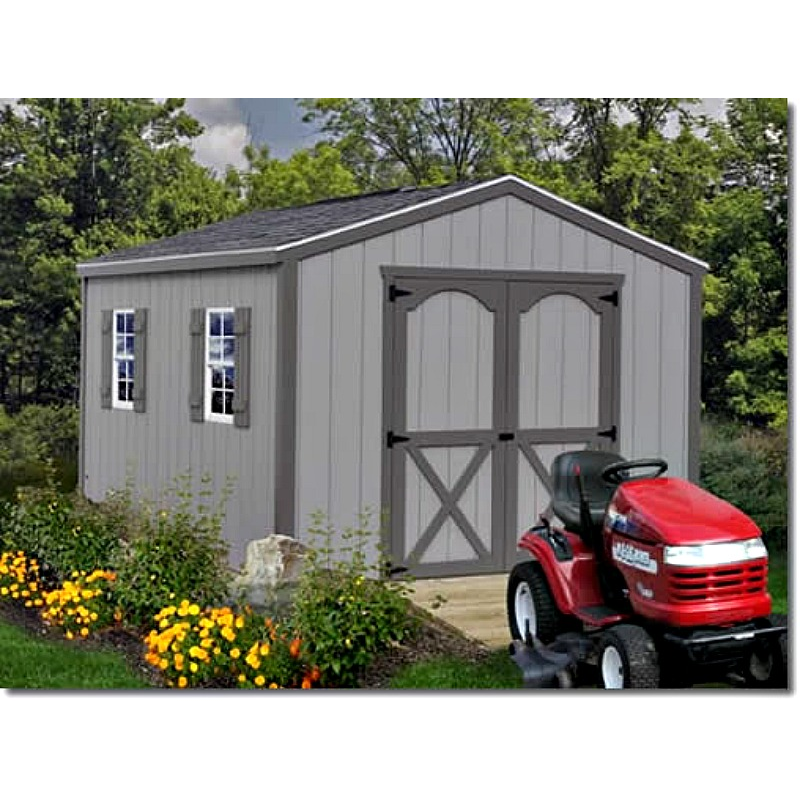 Storage Shed Ramps >> Best Barns Elm 10x16 Wood Storage Shed Kit (elm_1016)