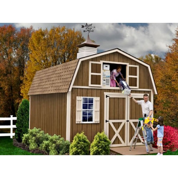 Millcreek 12x20 wood storage shed kit all pre cut Pre cut homes