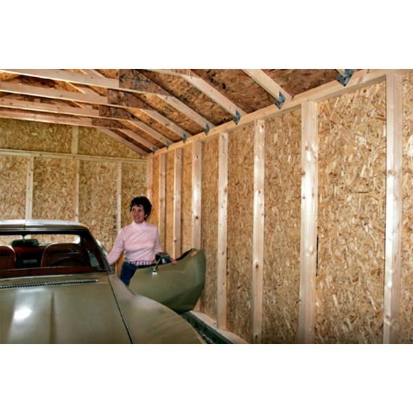 Sierra 12x16 Wood Storage Garage Shed Kit - ALL Pre-Cut ...