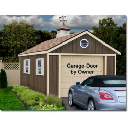 Sierra 12x16 Wood Storage Garage Shed Kit - ALL Pre-Cut (sierra_1216)