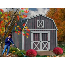 Denver 12x16 Wood Storage Shed Building Kit - ALL Pre-Cut (DV1216)