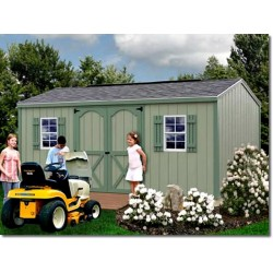 Best Barns Cypress 16x10 Wood Storage Shed Kit (cypress_1610)