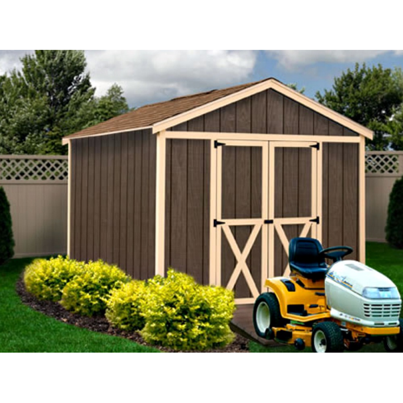 Danbury 8x12 Wood Storage Shed Kit - ALL Pre-Cut (danbury_812)