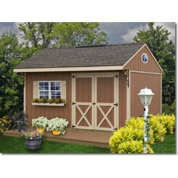 Best Barns Northwood 10x10 Wood Storage Shed Kit - ALL Pre-Cut (NW1010)