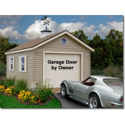 Greenbriar 12x16 Wood Garage Shed Kit - ALL Pre-Cut (greenbriar_1216)