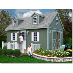 arlington 12x16 wood storage shed kit