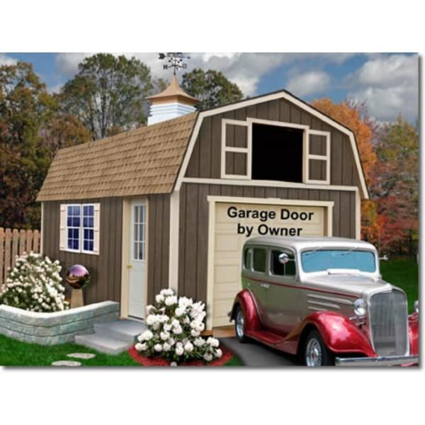 20 X20 Modern Style Two Car Garage Blueprints: Tahoe 12x20 Wood Storage Garage Kit (tahoe_1220