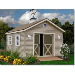 South Dakota 12x20 Vinyl Siding Wood Shed Kit (southdakota_1220)