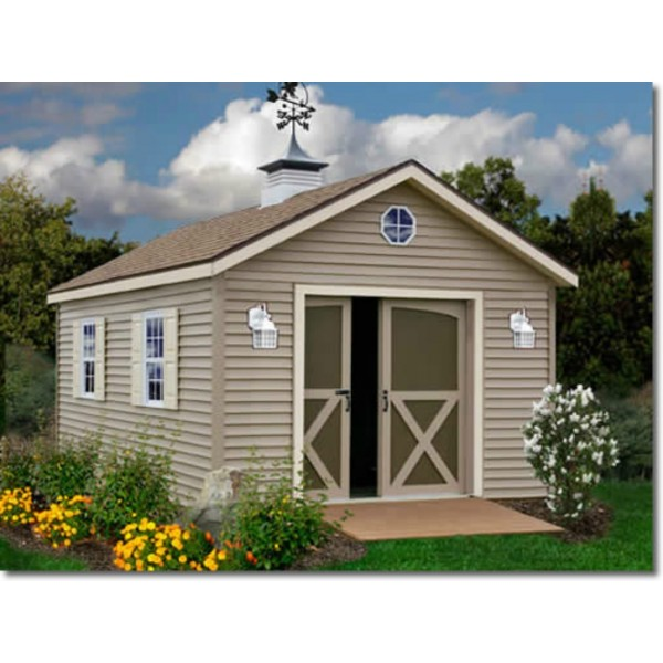 South Dakota 12x20 Vinyl Siding Wood Shed Kit (southdakota