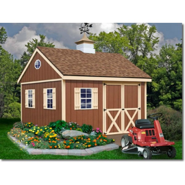 Best Sheds 16x32: Mansfield 12x12 Wood Storage Shed Kit (mansfield_1212