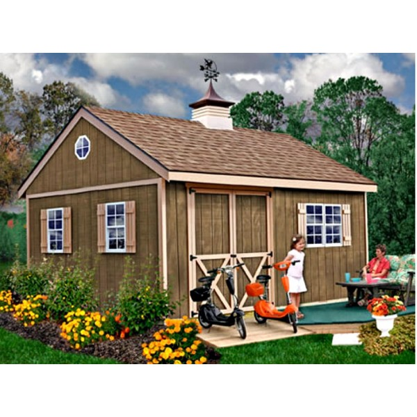 New Castle 16x12 Wood Storage Shed Kit All Pre Cut