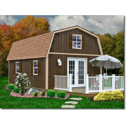 Best Barns Richmond 16x32 Wood Storage Shed Kit (richmond1632)