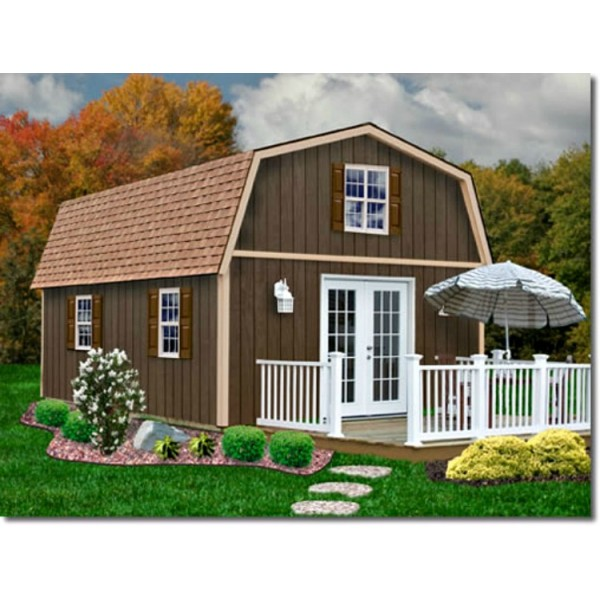 Best Barns Richmond 16x32 Wood Storage Shed Kit Richmond1632