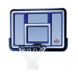 Lifetime 44 in. Acrylic Black Fusion Basketball Backboard with Slam-It Rim 73650