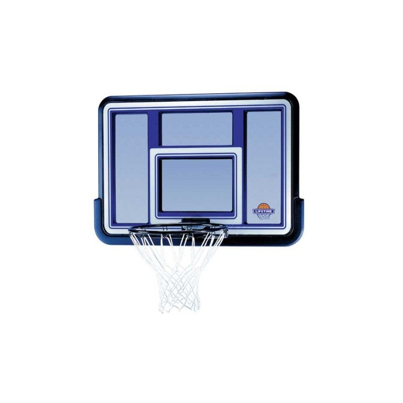 Lifetime 44 in. Acrylic Black Fusion Basketball Backboard with Slam-It Rim (73650)