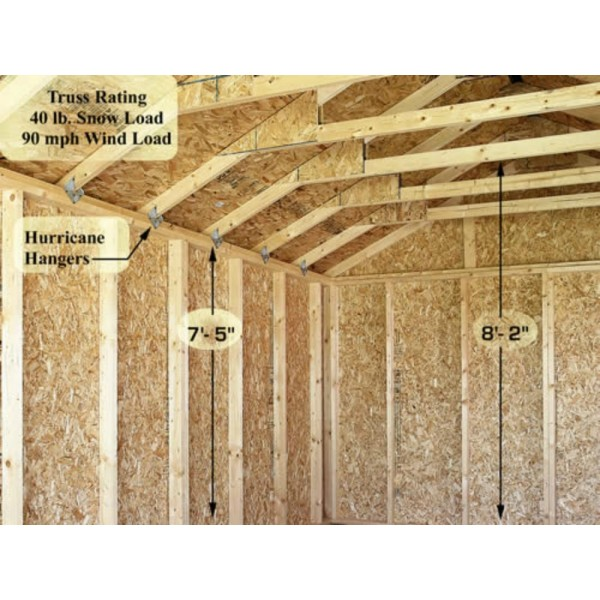 Sierra 12x20 Wood Storage Garage Shed Kit